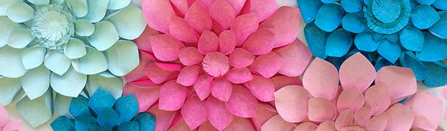 DIY Giant Dahlia Paper Flowers: How to Make Large Paper Dahlias | 188x640